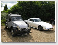 Citroen 2CV Pickup Special and Lotus Elan +2