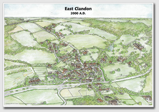 Millennium Map of East Clandon